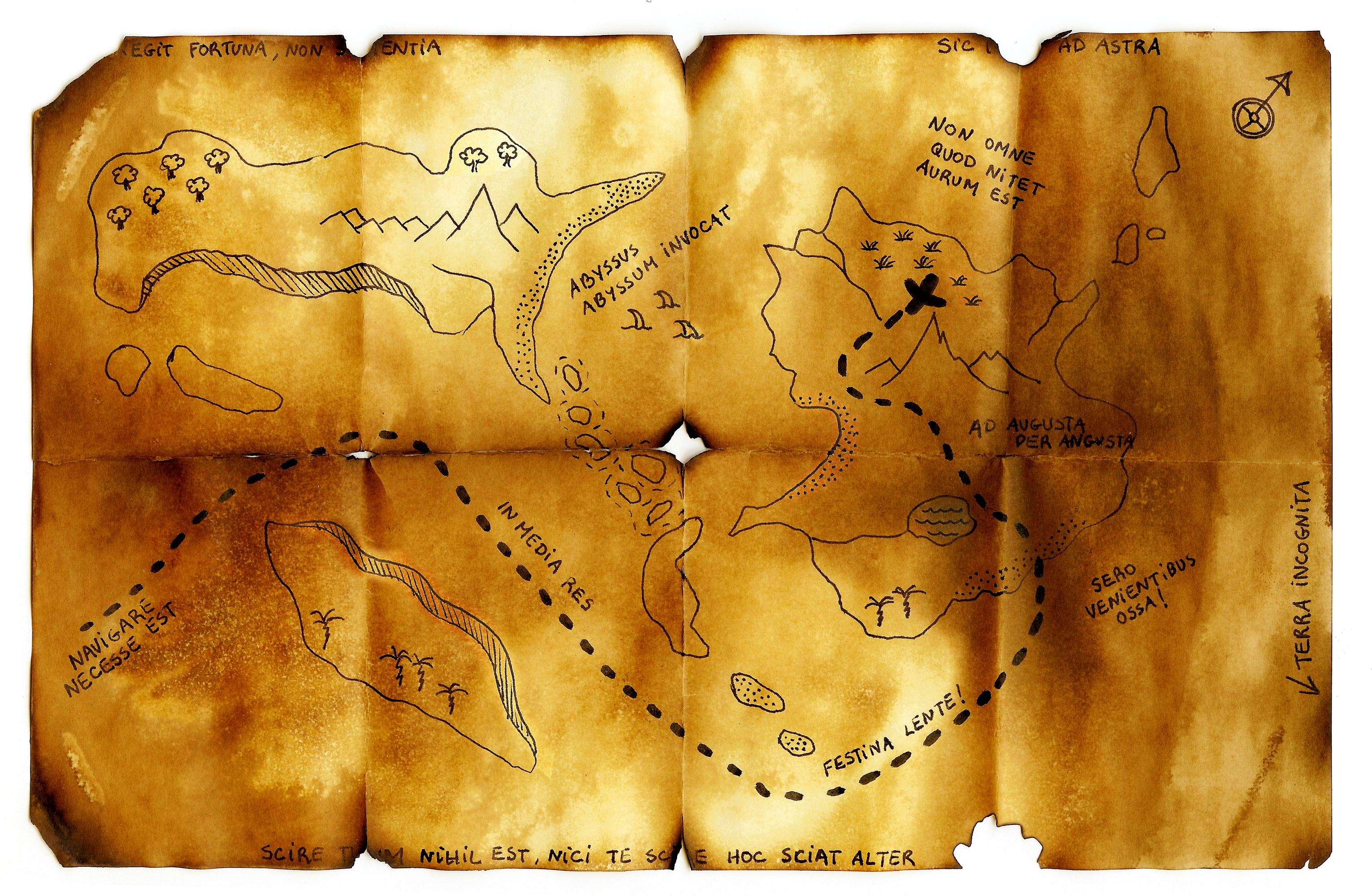 Come organizzare una caccia al tesoro diario di una for Disegnare una piantina di casa